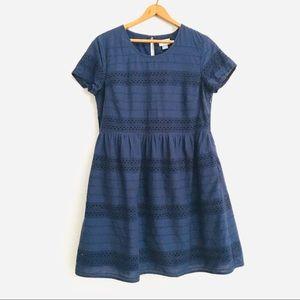 Navy Summer Sun Knee Length Dress